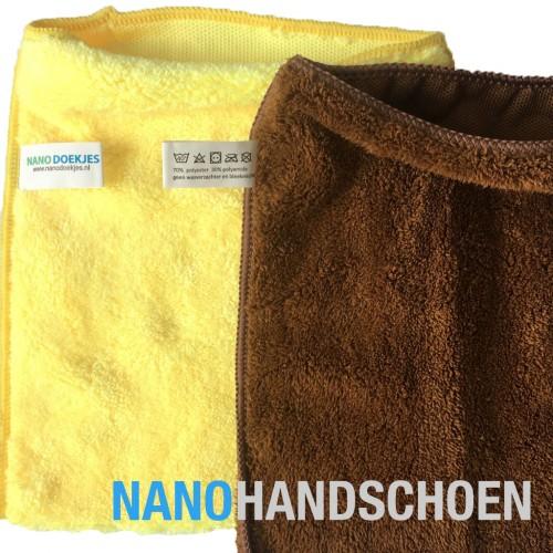 Nanohandschoen geel en bruin